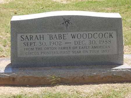 "WOODCOCK, SARAH ""BABE"" - Choctaw County, Oklahoma | SARAH ""BABE"" WOODCOCK - Oklahoma Gravestone Photos"