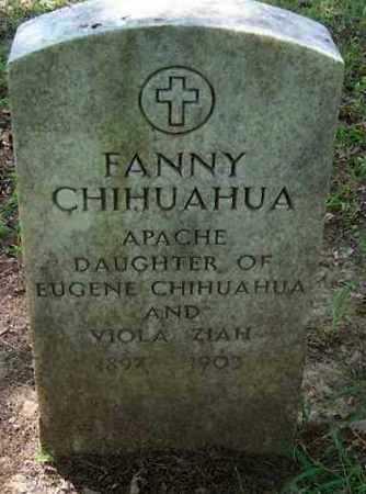 CHIHUAHUA, FANNY - Comanche County, Oklahoma | FANNY CHIHUAHUA - Oklahoma Gravestone Photos