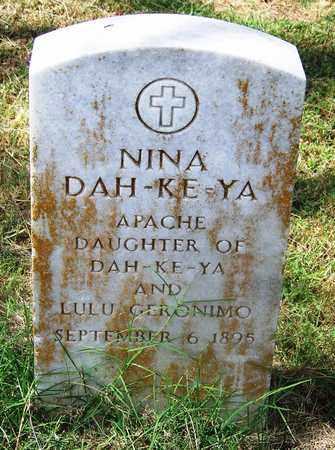 DAH-KE YA, NINA - Comanche County, Oklahoma | NINA DAH-KE YA - Oklahoma Gravestone Photos