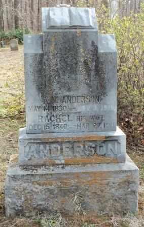 ANDERSON, RACHEL - Craig County, Oklahoma | RACHEL ANDERSON - Oklahoma Gravestone Photos