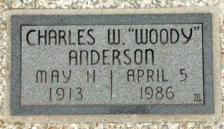 "ANDERSON, CHARLES W ""WOODY"" - Craig County, Oklahoma | CHARLES W ""WOODY"" ANDERSON - Oklahoma Gravestone Photos"