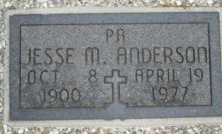 ANDERSON, JESSE MERLE - Craig County, Oklahoma | JESSE MERLE ANDERSON - Oklahoma Gravestone Photos