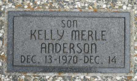 ANDERSON, KELLY MERLE - Craig County, Oklahoma | KELLY MERLE ANDERSON - Oklahoma Gravestone Photos