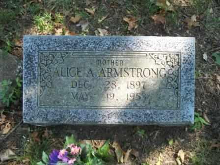ARMSTRONG, ALICE A - Craig County, Oklahoma | ALICE A ARMSTRONG - Oklahoma Gravestone Photos