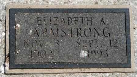 ARMSTRONG, ELIZABETH A - Craig County, Oklahoma | ELIZABETH A ARMSTRONG - Oklahoma Gravestone Photos