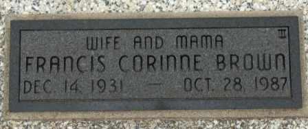 BROWN, FRANCIS CORINNE - Craig County, Oklahoma   FRANCIS CORINNE BROWN - Oklahoma Gravestone Photos