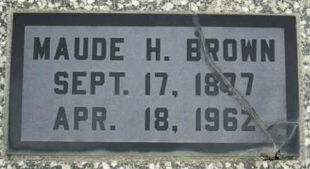 BROWN, MAUDE H - Craig County, Oklahoma | MAUDE H BROWN - Oklahoma Gravestone Photos