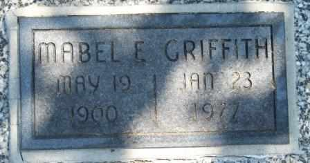 GRIFFITH, MABEL ELLEN - Craig County, Oklahoma | MABEL ELLEN GRIFFITH - Oklahoma Gravestone Photos