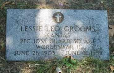 GROOMS  (VETERAN WWII), LESSIE LEO - Craig County, Oklahoma | LESSIE LEO GROOMS  (VETERAN WWII) - Oklahoma Gravestone Photos