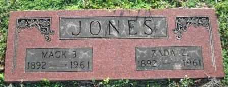 JONES, ZADA ZENOBIA - Craig County, Oklahoma | ZADA ZENOBIA JONES - Oklahoma Gravestone Photos