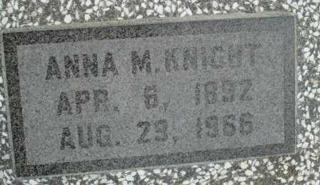 KNIGHT, ANNA M - Craig County, Oklahoma | ANNA M KNIGHT - Oklahoma Gravestone Photos