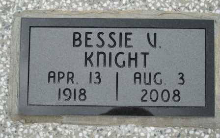KNIGHT, BESSIE V - Craig County, Oklahoma   BESSIE V KNIGHT - Oklahoma Gravestone Photos