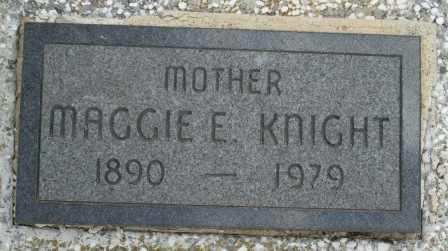 KNIGHT, MAGGIE E - Craig County, Oklahoma   MAGGIE E KNIGHT - Oklahoma Gravestone Photos