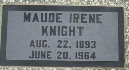 KNIGHT, MAUDE IRENE - Craig County, Oklahoma | MAUDE IRENE KNIGHT - Oklahoma Gravestone Photos