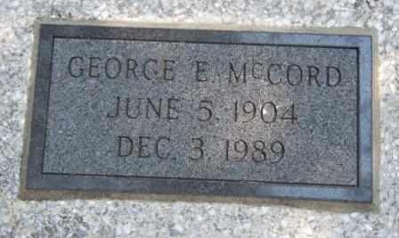 MCCORD, GEORGE E - Craig County, Oklahoma | GEORGE E MCCORD - Oklahoma Gravestone Photos