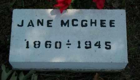 MCGHEE, JANE - Craig County, Oklahoma   JANE MCGHEE - Oklahoma Gravestone Photos