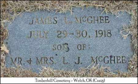 MCGHEE, JAMES L. - Craig County, Oklahoma | JAMES L. MCGHEE - Oklahoma Gravestone Photos