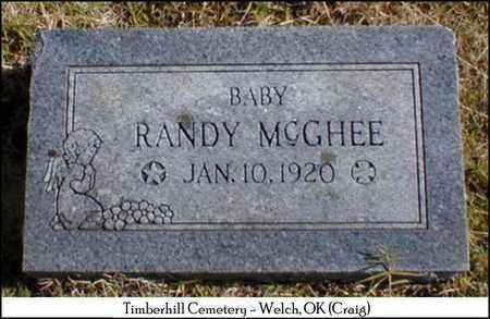 MCGHEE, RANDY - Craig County, Oklahoma | RANDY MCGHEE - Oklahoma Gravestone Photos