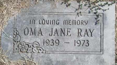 RAY, OMA JANE - Craig County, Oklahoma   OMA JANE RAY - Oklahoma Gravestone Photos