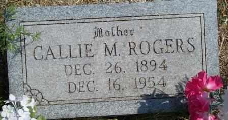 CORN ROGERS, CALLIE MAE - Craig County, Oklahoma   CALLIE MAE CORN ROGERS - Oklahoma Gravestone Photos