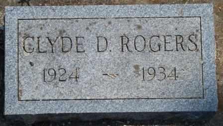 ROGERS, CLYDE D - Craig County, Oklahoma | CLYDE D ROGERS - Oklahoma Gravestone Photos