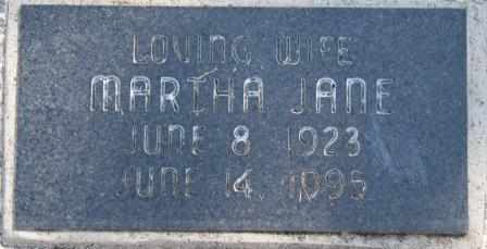 ROGERS, MARTHA JANE - Craig County, Oklahoma | MARTHA JANE ROGERS - Oklahoma Gravestone Photos
