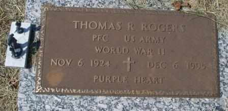 ROGERS (VETERAN WWII), THOMAS R - Craig County, Oklahoma | THOMAS R ROGERS (VETERAN WWII) - Oklahoma Gravestone Photos