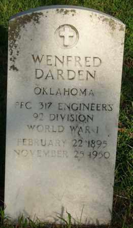DARDEN (VETERAN WWI), WENFRED - Creek County, Oklahoma | WENFRED DARDEN (VETERAN WWI) - Oklahoma Gravestone Photos