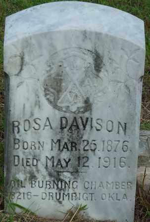 DAVISON, ROSA - Creek County, Oklahoma | ROSA DAVISON - Oklahoma Gravestone Photos