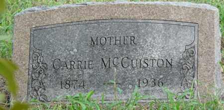 MCCUISTON, CARRIE - Creek County, Oklahoma   CARRIE MCCUISTON - Oklahoma Gravestone Photos