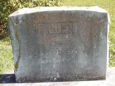 ALLEN, JOHN W - Delaware County, Oklahoma | JOHN W ALLEN - Oklahoma Gravestone Photos