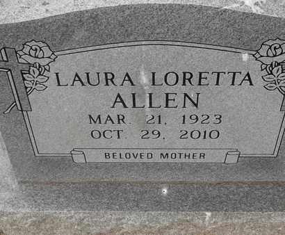 ALLEN, LAURA LORETTA - Delaware County, Oklahoma | LAURA LORETTA ALLEN - Oklahoma Gravestone Photos