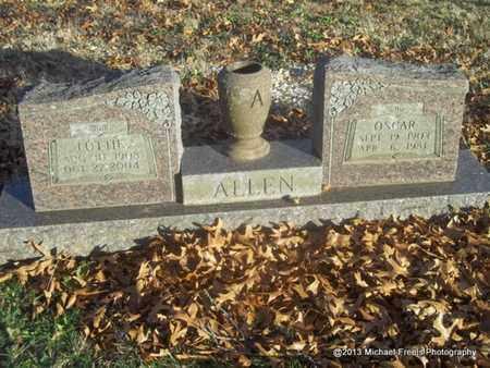 ALLEN, LOTTIE - Delaware County, Oklahoma   LOTTIE ALLEN - Oklahoma Gravestone Photos