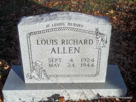 ALLEN (VETERAN WWII), LOUIS RICHARD - Delaware County, Oklahoma | LOUIS RICHARD ALLEN (VETERAN WWII) - Oklahoma Gravestone Photos