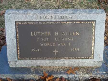ALLEN (VETERAN WWII), LUTHER H - Delaware County, Oklahoma   LUTHER H ALLEN (VETERAN WWII) - Oklahoma Gravestone Photos