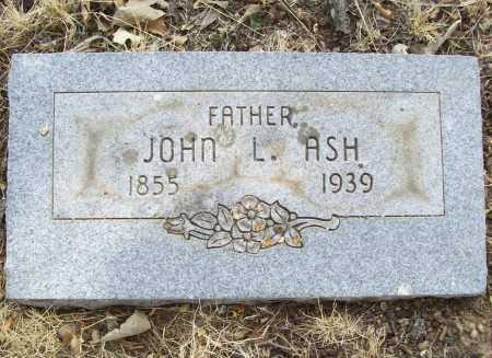 ASH, JOHN L. - Delaware County, Oklahoma | JOHN L. ASH - Oklahoma Gravestone Photos