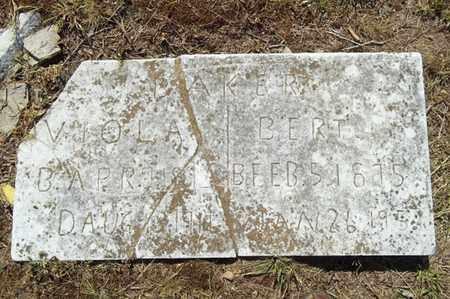 BAKER, VIOLA - Delaware County, Oklahoma   VIOLA BAKER - Oklahoma Gravestone Photos