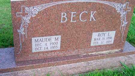 BECK, ROY L - Delaware County, Oklahoma | ROY L BECK - Oklahoma Gravestone Photos