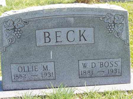 "BECK, W D ""BOSS"" - Delaware County, Oklahoma | W D ""BOSS"" BECK - Oklahoma Gravestone Photos"