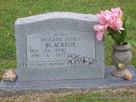 JONES BLACKFOX, IMOGENE - Delaware County, Oklahoma | IMOGENE JONES BLACKFOX - Oklahoma Gravestone Photos