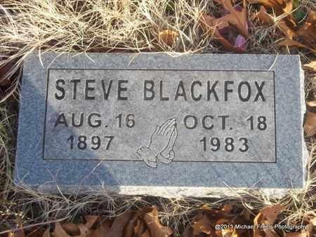 BLACKFOX, STEVE - Delaware County, Oklahoma | STEVE BLACKFOX - Oklahoma Gravestone Photos