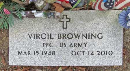 BROWNING (VETERAN), VIRGIL - Delaware County, Oklahoma | VIRGIL BROWNING (VETERAN) - Oklahoma Gravestone Photos