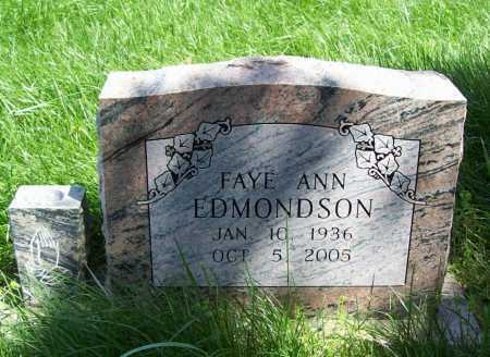 EDMONDSON CROWLEY, FAYE ANN - Delaware County, Oklahoma | FAYE ANN EDMONDSON CROWLEY - Oklahoma Gravestone Photos