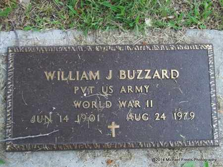 BUZZARD (VETERAN WWII), WILLIAM J. - Delaware County, Oklahoma | WILLIAM J. BUZZARD (VETERAN WWII) - Oklahoma Gravestone Photos