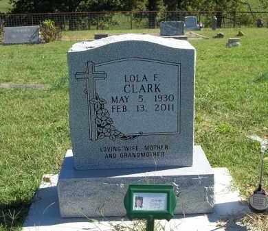 CLARK, LOLA F - Delaware County, Oklahoma | LOLA F CLARK - Oklahoma Gravestone Photos