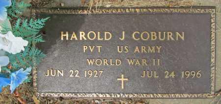 COBURN (VETERAN WWII), HAROLD J - Delaware County, Oklahoma   HAROLD J COBURN (VETERAN WWII) - Oklahoma Gravestone Photos