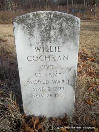 COCHRAN (VETERAN WWI), WILLIE - Delaware County, Oklahoma | WILLIE COCHRAN (VETERAN WWI) - Oklahoma Gravestone Photos