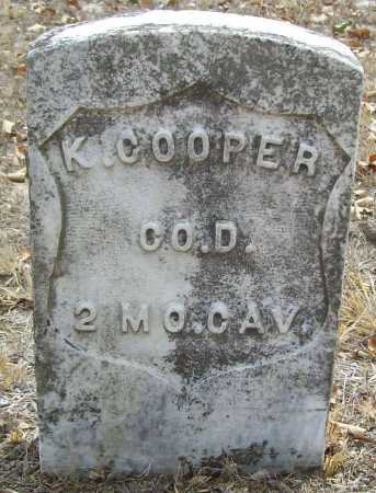 COOPER (VETERAN UNION), K. - Delaware County, Oklahoma | K. COOPER (VETERAN UNION) - Oklahoma Gravestone Photos