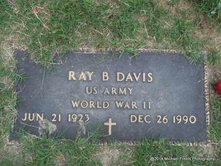 DAVIS (VETERAN WWII), RAY B. - Delaware County, Oklahoma | RAY B. DAVIS (VETERAN WWII) - Oklahoma Gravestone Photos