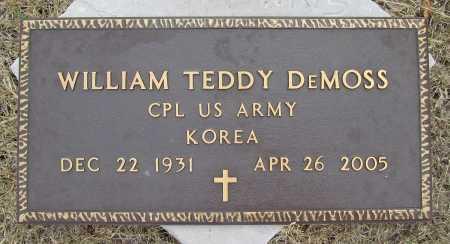 DEMOSS (VETERAN KOR), WILLIAM TEDDY - Delaware County, Oklahoma | WILLIAM TEDDY DEMOSS (VETERAN KOR) - Oklahoma Gravestone Photos
